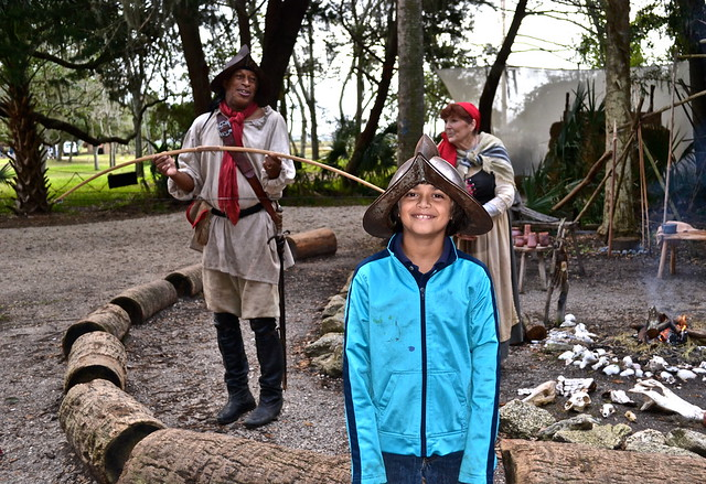 Fountain of Youth - Ponce de Leon, St. Augustine Florida - re enactment