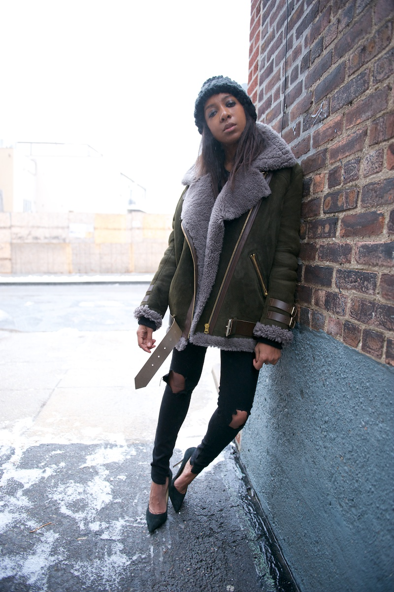 acne shearling jacket