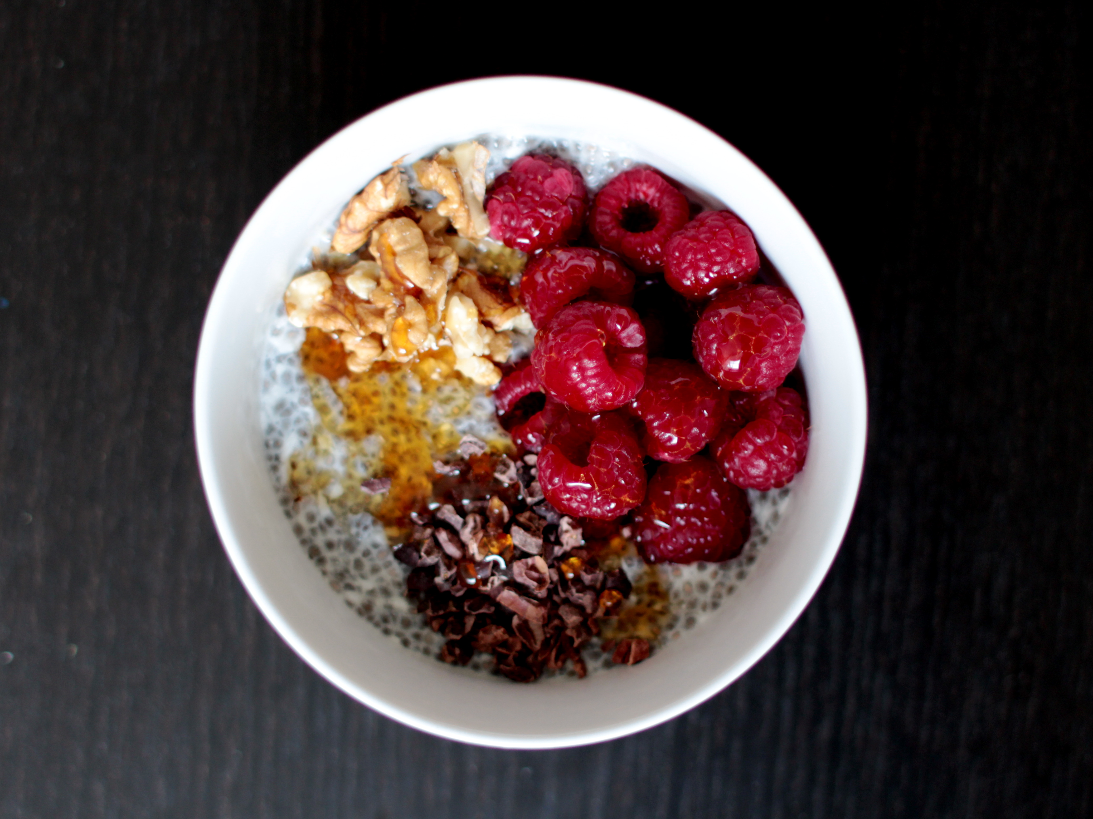 Chia Seed Pudding with Walnuts & Cacao Nibs