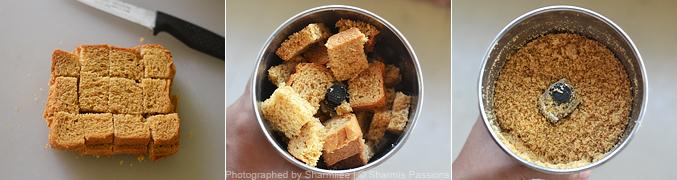How to make bread puttu - Step1