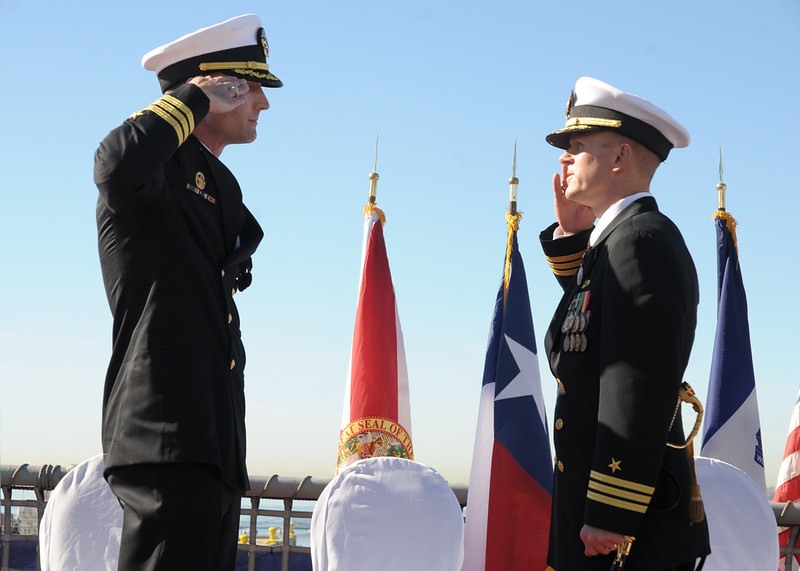 LCS Crew 102 Holds Change Of Command