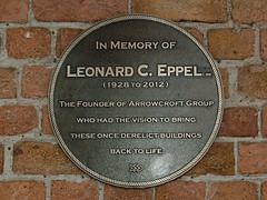 Photo of Leonard C. Eppel brass plaque
