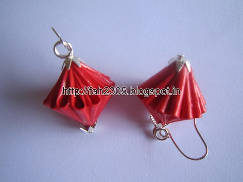 Handmade Jewelry - Origami Unit Diamond Paper Earrings (3) by fah2305