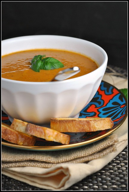 Roasted Tomato Soup with Goat Cheese 1