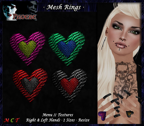 [OFFER!] *P* Mesh Passion Rings 2 ~11 Textures~