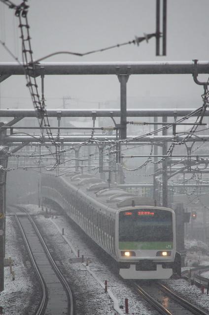 Tokyo Train Story 東京雪景色 2014年2月14日