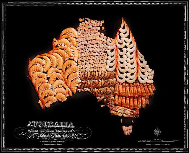 Mape država i kontinenata napravljene od njihove omiljene hrane! 13205421344_b84dddc544_z