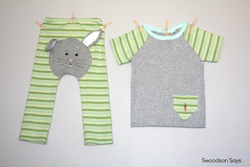 13370020123 70d65f0eb2 A Boys Easter Outfit   Bunny Butt Pants and Carrot T shirt!