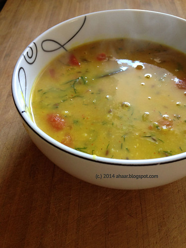 Dill and tomato dal