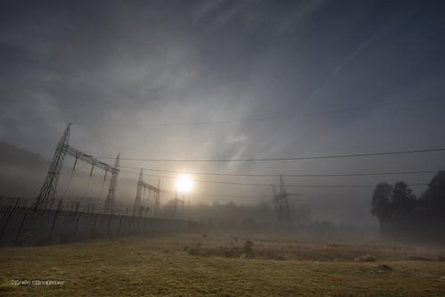 autumn mist electric fog sunrise australia electricity newsouthwales kangaroovalley 2014 kangaroovalleypumpandpowerstation