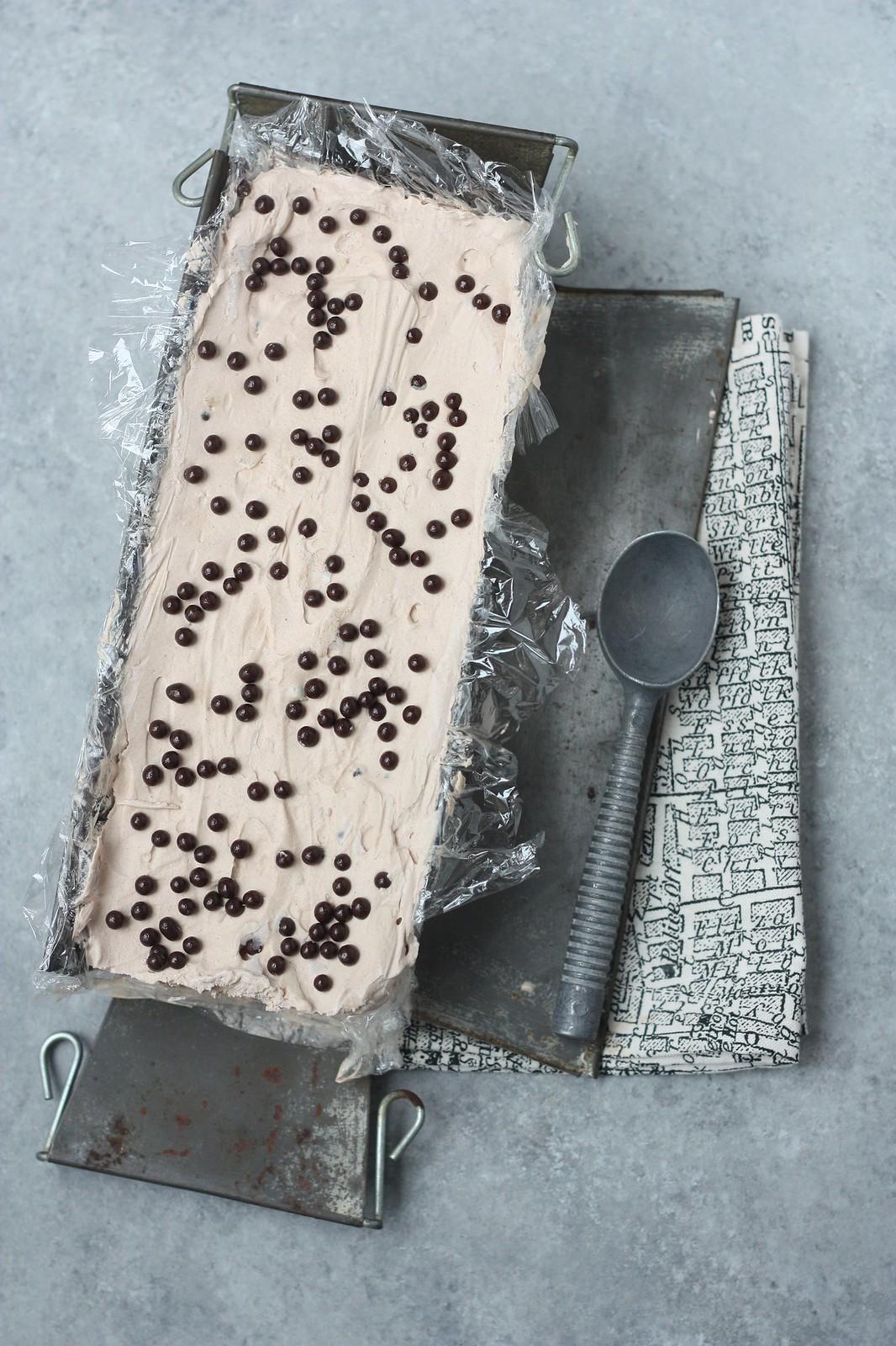 Coffee-Marzipan No Churn Icecream