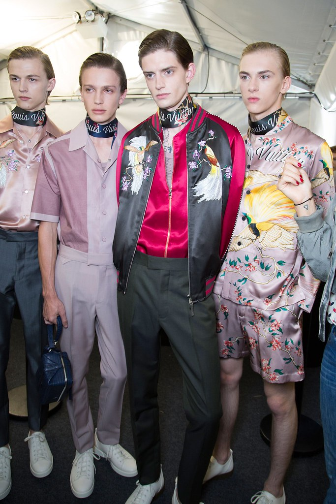 Dominik Sadoch3378_SS16 Paris Louis Vuitton_Max Barczak, Lucas Satherley, Gabriel Hengeveld(fashionising.com)