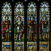 Small photo of Stained glass window, All saints' church, Stamford