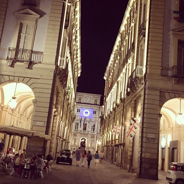 Wow, #Torino is beautiful at night! It looks like a completely different place! #travel #Italy #remoteyear