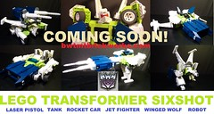 Lego Transformer Sixshot coming soon by BWTMT Brickworks