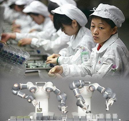 90% Humans Replaced By Robots In A Chinese Factory, Leads To Increase In Production