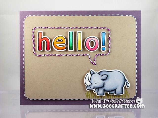 Copic Rhino Hello 1