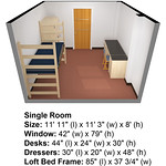 Dimensions Watagua Single Room iso