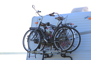 The bikes on the rack