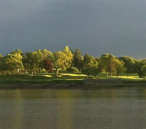 Sunlight and Storm Clouds (Salem from Obear Park, Beverly) by randubnick