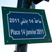 A plaque for Place de 14 janvier, 2011,