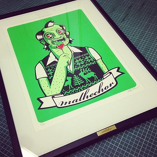 "framed ""malhechor"", silk screen edition / setdebelleza 2013"