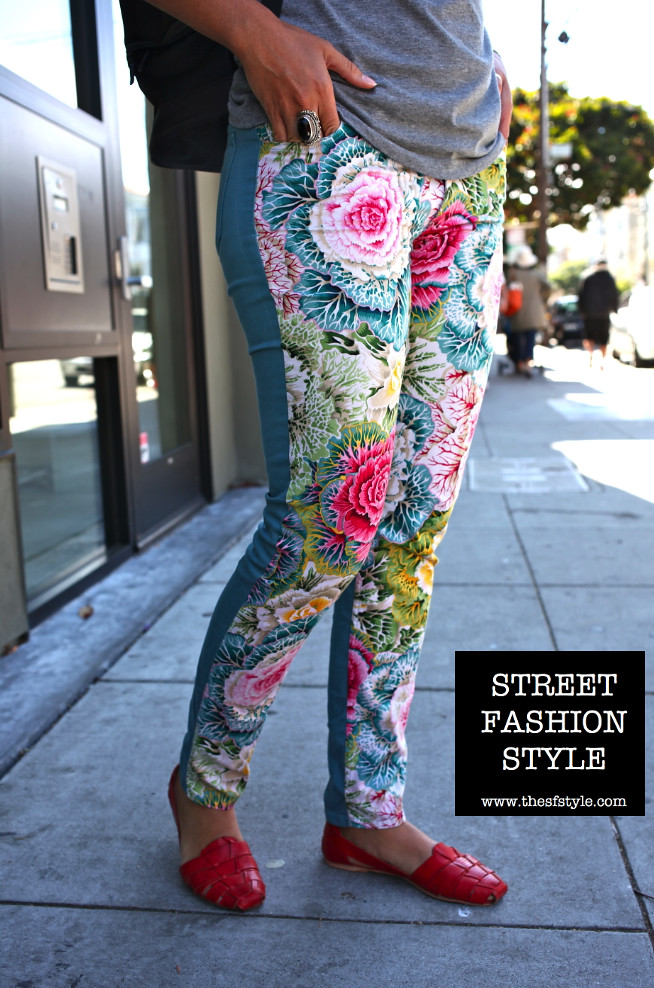 Floral Print Pants, leather sandals, sfstyle, thesfstyle, san francisco fashion blog, street fashion style,