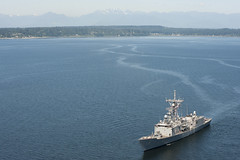 In this file photo, USS Ford (FFG 54) transits Puget Sound in July. (U.S. Navy photo by Mass Communication Specialist Seaman Apprentice William Blees)