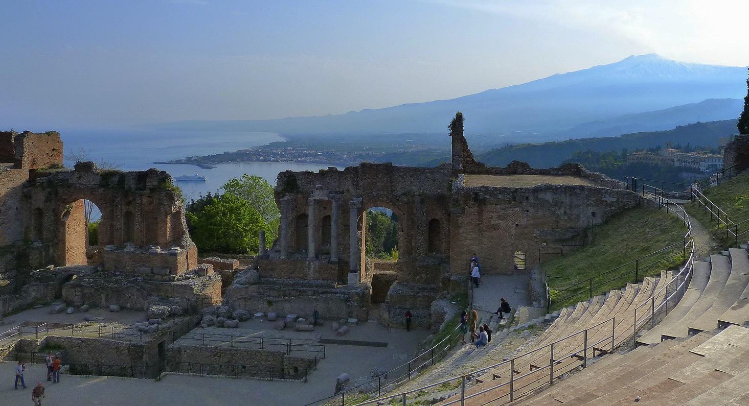 Teatro grecorromano de Taormina, en Sicilia. Autora, Benedetta Alosi