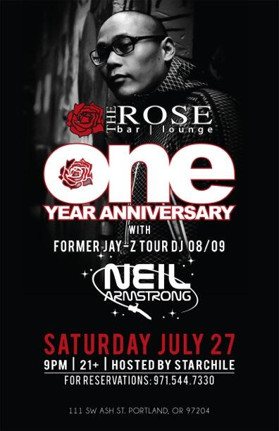 The Rose Lounge One Year Anniversary