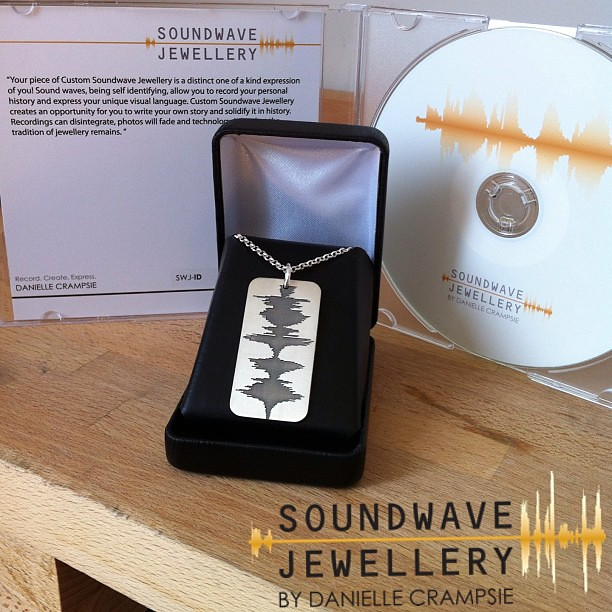 #Custom Soundwave #Jewellery Is A Unique One Of A Kind