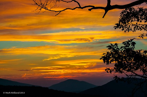 mountains sunrise landscape dawn virginia nikon shenandoah
