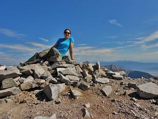 Lounging on Summit of Mount Antero (14,289 ft)