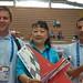 Mrs Lu Xiaolin (International Wushu Federation) with the FAI AeroMusicals pilots