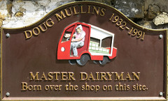 Photo of Doug Mullins brown plaque