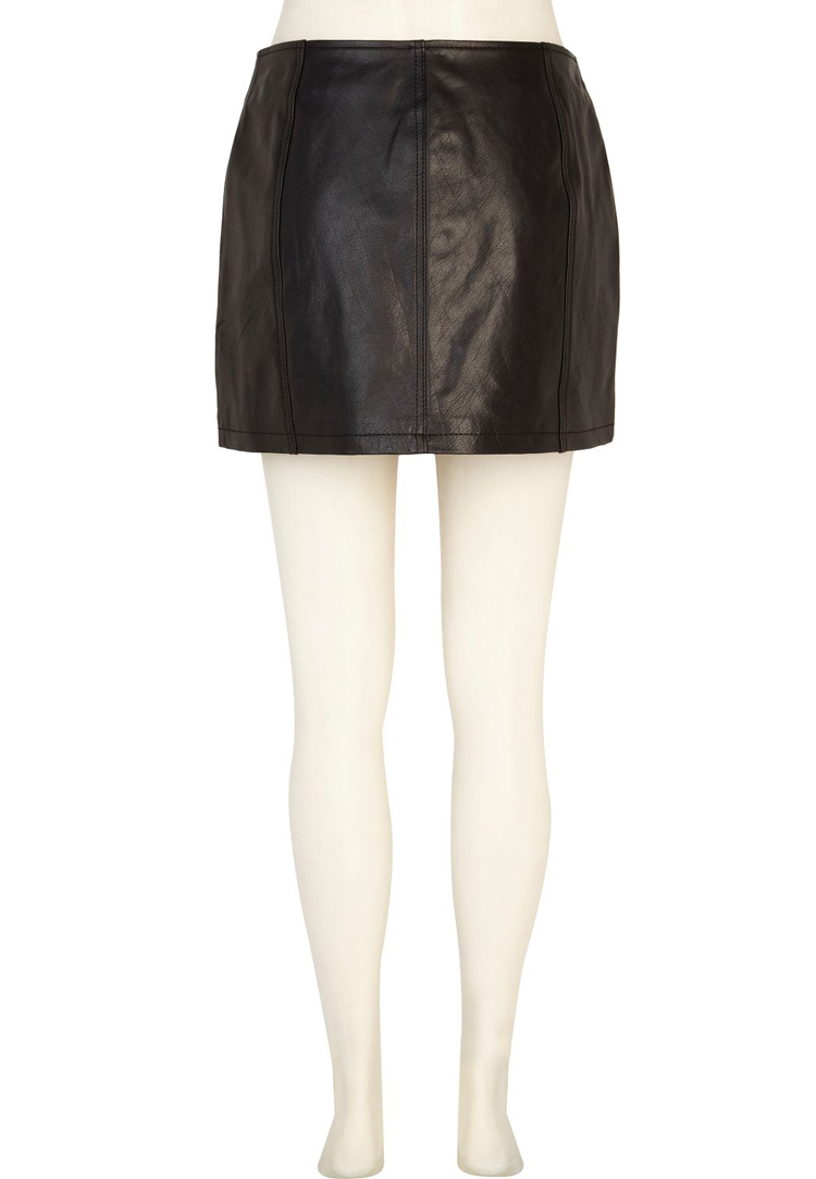 River Island Biker Leather Skirt