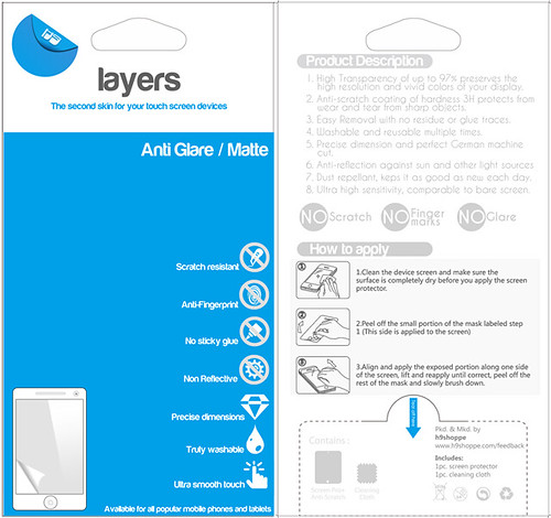 Layers screen protector