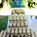 white water wedding cake & cupcakes