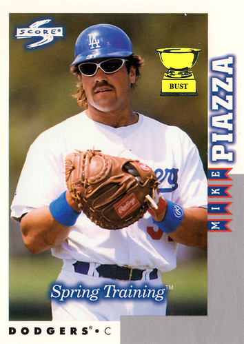 Baseball Card Bust Mike Piazza 1998 Score Spring Training