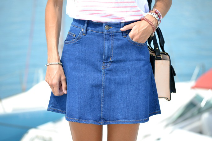 DENIM MINI SKIRT ZARA 4
