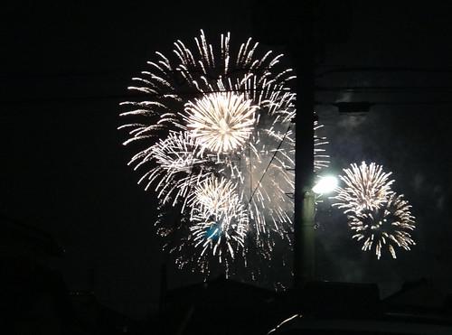Dandelion puff, Fireworks 2013