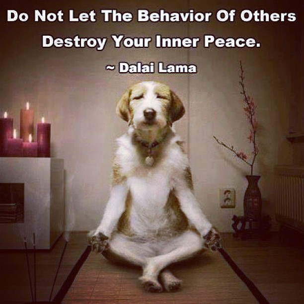 of others destroy your inner peace ...