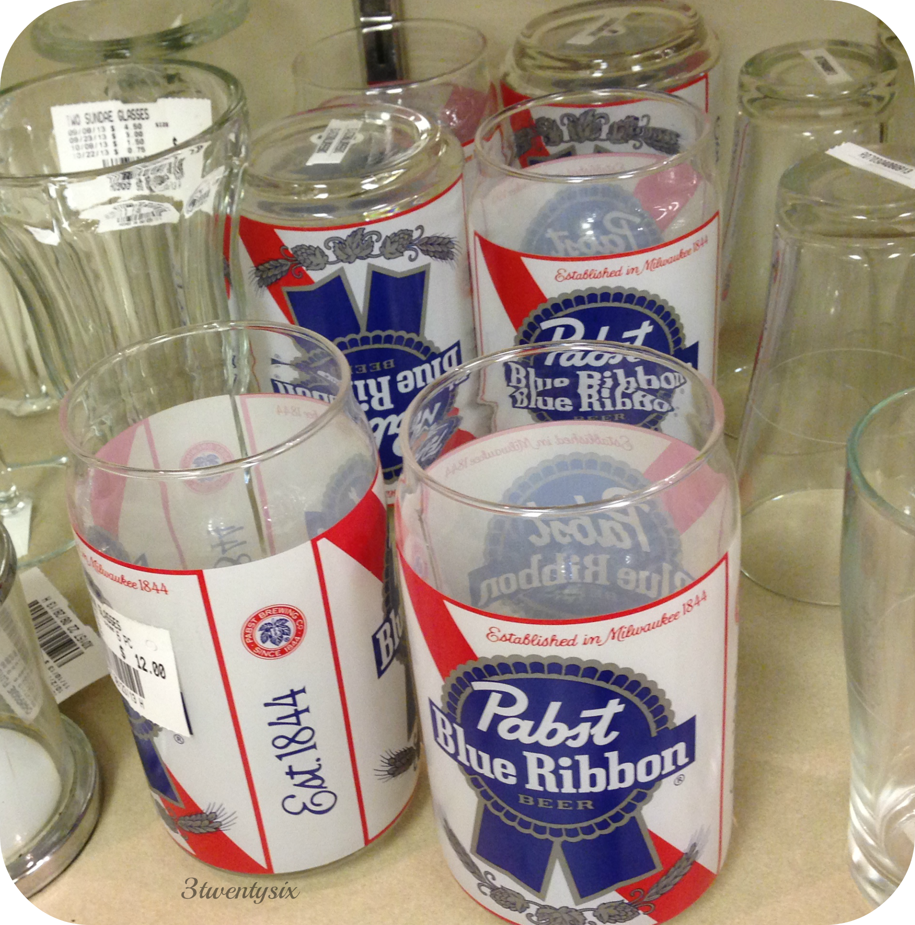 Pabst Blue Ribbon glasses