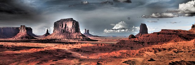 Sunset Panorama Monument Valley, Navajo Nation