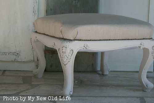 sgabello shabby chic handmade