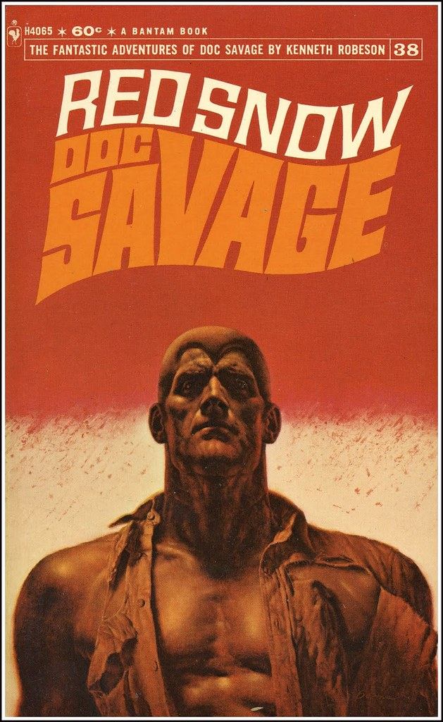 Doc Savage 38 Red Snow Bantam Paperback cover by James Bama