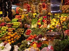 Au marché de la Boqueria à Barcelone