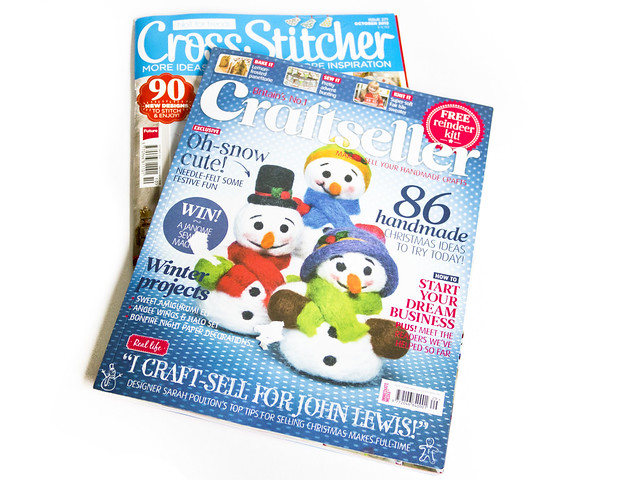craftseller and cross stitcher magazines