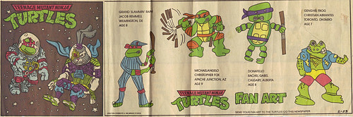 TEENAGE MUTANT NINJA TURTLES { newspaper strip } ..Raph, the Space Cadet + SPACE USAGI  ..art by Lawson  :: 02231992