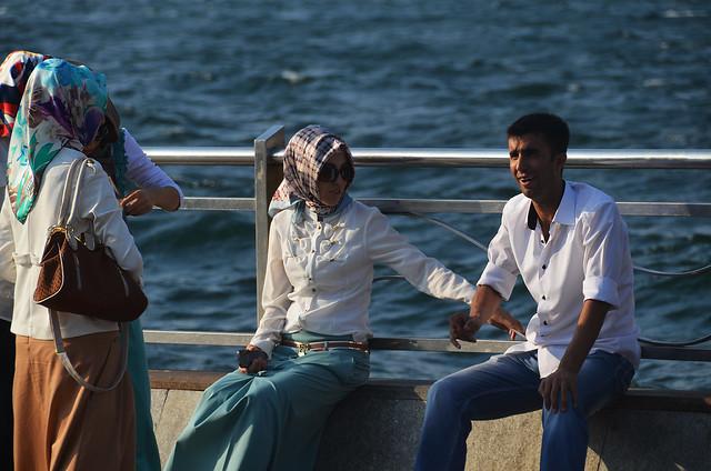 Grupo de amigos en Estambul